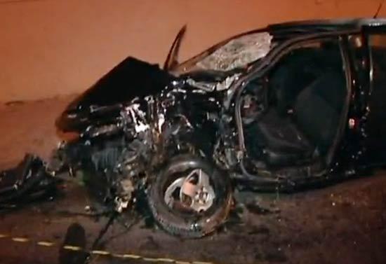 Carro de motorista que atropelou e matou duas mulheres na calçada da marginal Pinheiros, em SP
