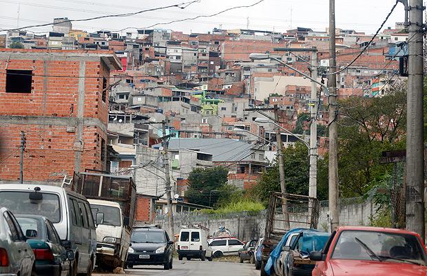 SAO PAULO, SP BRASIL-06-04- 2017 : Vista de aera de ocupacao no Jacana, zona norte de Sao Paulo. Bairro vive onda de violencia depois de uma chacina de 9 mortos. ( Foto: Joel Silva/Folhapress ) ***COTIDIANO *** ( ***EXCLUSIVO FOLHA***)