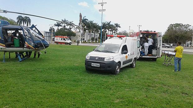 Resgate de feridos é feito em Janaúba, Minas Gerais; vigia ateou fogo em crianças nesta quinta (5)