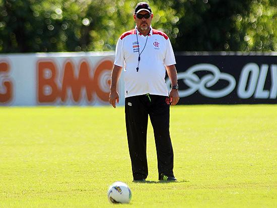 Joel Santana durante treino do Flamengo