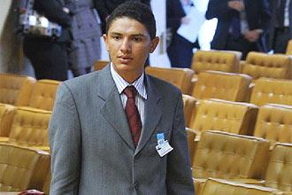 O caseiro Francenildo durante julgamento do STF do caso, em 2009
