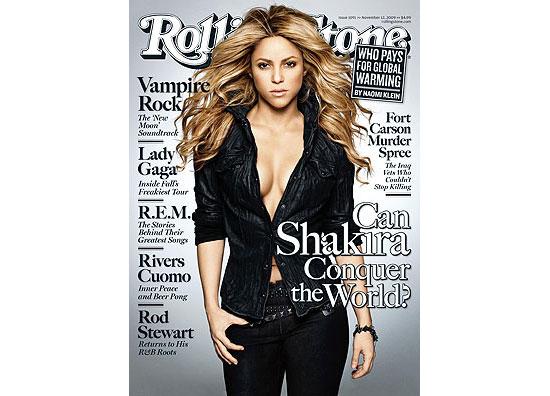 """A cantora Shakira na capa da revista """"Rolling Stone""""; revista """"People"""" mostra trecho de clipe em estilo hip-hop"""