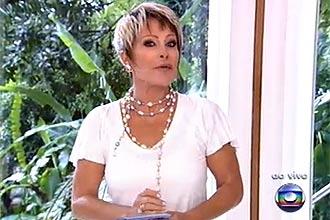 """A apresentadora Ana Maria Braga exibiu um novo corte de cabelo no """"Mais Você"""" desta segunda; visual anterior não era """"prático"""""""