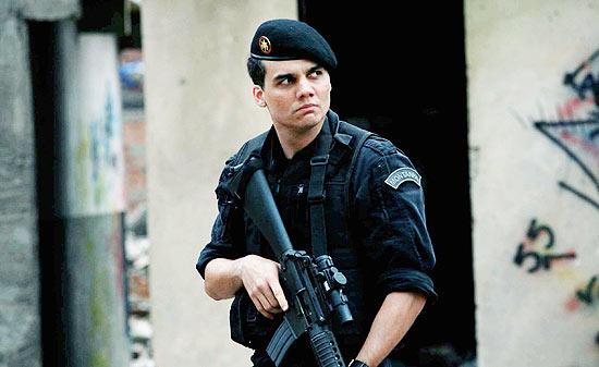 O ator Wagner Moura, que viveu o capitão Nascimento, no filme Tropa de Elite, de José Padilha