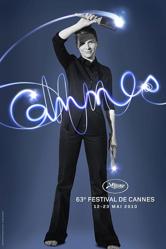 A atriz francesa Juliette Binoche estampa o cartaz da 63ª edição do Festival de Cannes
