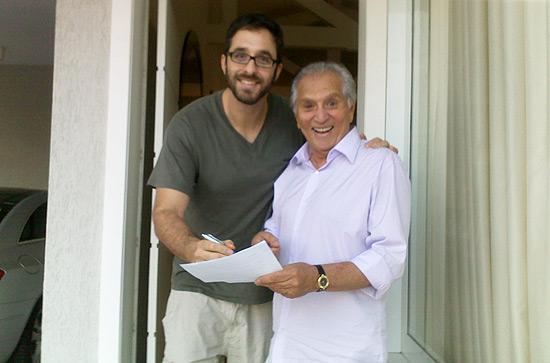 Foto postada por Rafinha Bastos mostra ele e Carlos Alberto