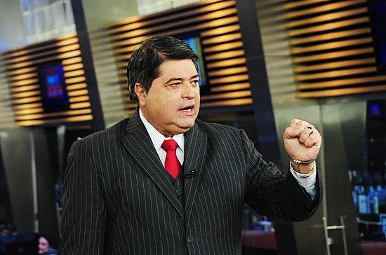 O apresentador José Luiz Datena, que discutiu retorno à Band em encontro com Johnny Saad