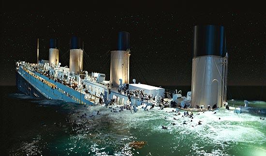 """Cena do filme """"Titanic"""" (1997), de James Cameron, que ganhou versão 3D"""