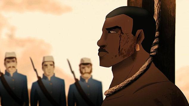 Cena de 'Uma História de Amor e Fúria', animação brasileira dirigida por Luiz Bolognesi