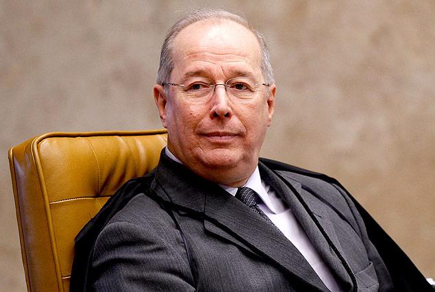 O ministro Celso de Mello no plenário do Supremo Tribunal Federal
