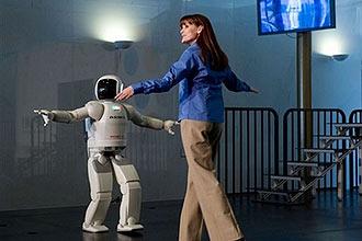 Robô humanóide Asimo, que