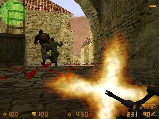 """Cena do jogo """"Counter-Strike"""", que teve a venda proibida no Brasil"""