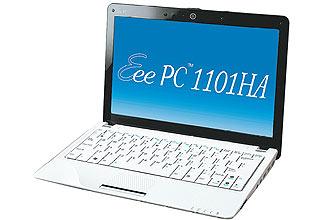 Asus Eee PC 1101HA, netbook que tem tela de 11,6 polegadas, pesa apenas 1,38 kg e se destaca pela bateria de nove horas
