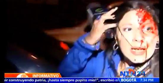 Repórter Carmen Andrea Rengifo é agredida durante cobertura da morte de Hugo Chávez em Caracas