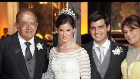 Gilmar Mendes no casamento da filha de Jacob Barata
