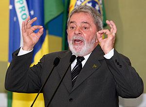 O presidente Luiz Inácio Lula da Silva
