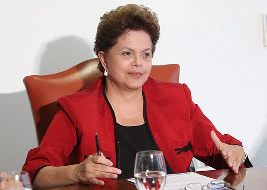 A presidente Dilma Rousseff durante encontro no Palacio do Planalto na semana passada