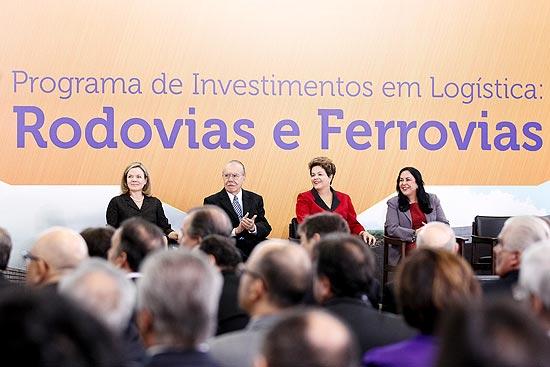 Dilma anuncia concessões ao setor privado estimadas em R$ 133 bilhões ao longo dos próximos 30 anos
