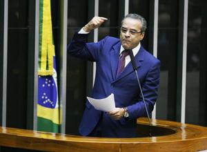 O deputado Henrique Eduardo Alves, favorido à presidência da Câmara