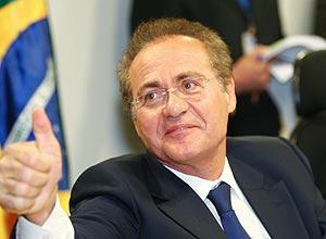 O senador Renan Calheiros, favorito na disputa pela presidência do Senado
