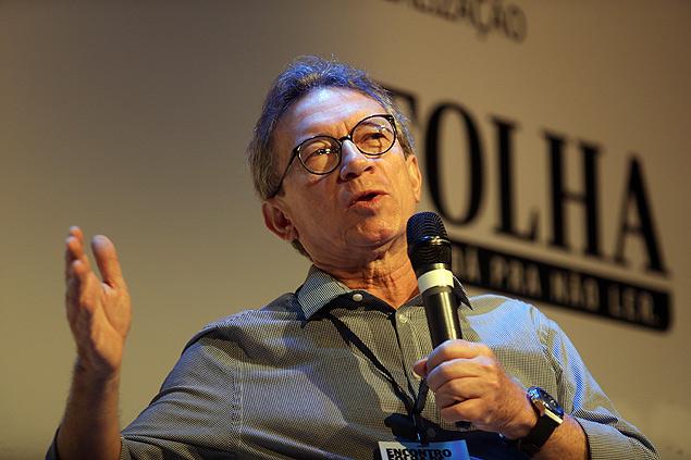 Lúcio Flavio Pinto, durante o Encontro Folha de Jornalismo, em São Paulo