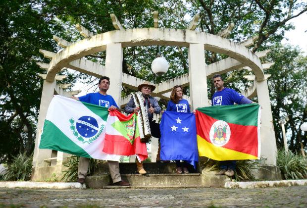 Os separatistas Gilberto Miranda, Edison Estivalete Bilhalva, Anidria Rocha e Liziney Barreiro