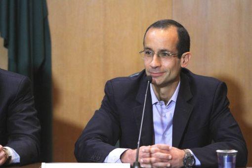 Marcelo Odebrecht, em depoimento na CPI da Petrobras, na sede da Justiça Federal, em Curitiba (PR)