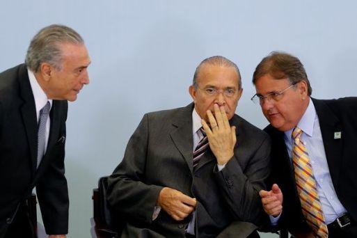 Michel Temer, Eliseu Padilha e Geddel Vieira Lima, citados múltiplas vezes em delação