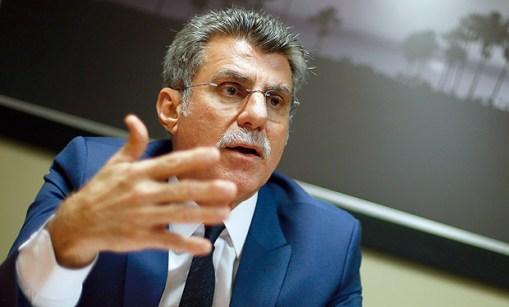 O senador Romero Jucá, líder do governo no Senado