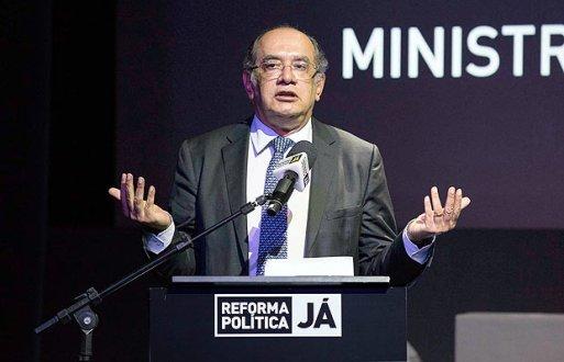 O ministro do STF, Gilmar Mendes, em palestra