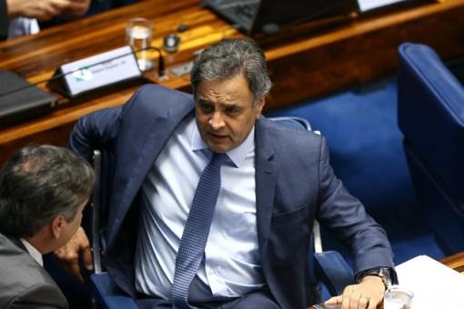 O senador Aécio Neves (PSDB-MG), que foi afastado pelo Supremo