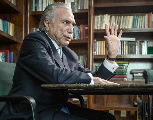 O presidente Michel Temer durante entrevista em seu escritório em SP