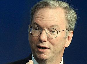 Eric Schmidt, diretor-executivo do Google; segundo Schmidt, o Brasil está perto de ser o sexto mercado da empresa