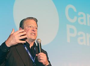 Al Gore fala na Campus Party hoje, que acontece nesta semana no Centro de Exposições Imigrantes, em São Paulo