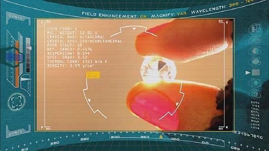 """HUD (heads-up display) em cena do seriado """"O Exterminador do Futuro: Crônicas de Sarah Connor"""""""