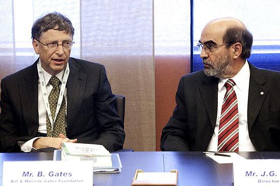 Gates e José Graziano, diretor-geral da FAO (Organização das Nações Unidas para Agricultura e Alimentação)