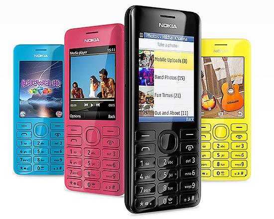 Nokia 206, que custará US$ 62, tem tela de 2,4 polegadas, câmera de 1,3 Mpixel e entrada para cartão microSD