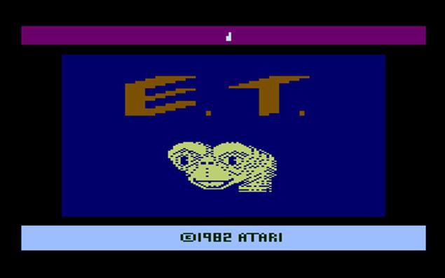 """Imagem do jogo """"ET"""" para Atari 2600 no site do Internet Archive; coletânea tem mais de 1.000 títulos"""
