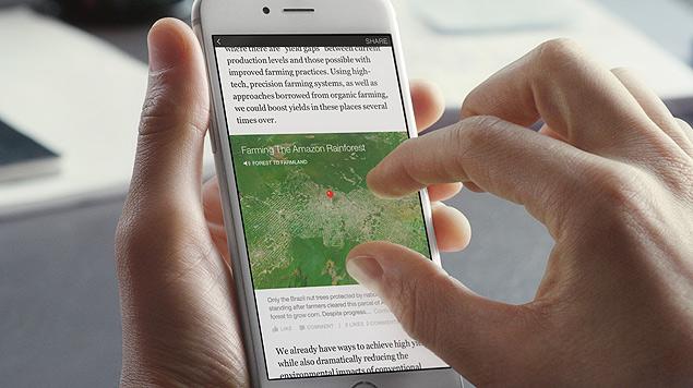 Com o Instant Articles, o Facebook quer manter os usuários no seu aplicativo mesmo quando clicarem para abrir reportagens