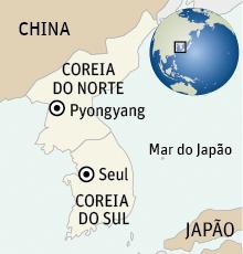 Mapa das Coreias