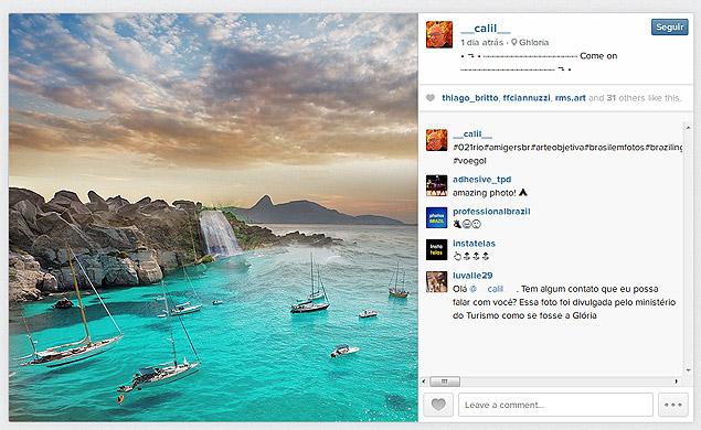 Imagem publicada no instagram do Ministério do Turismo é uma fotomontagem de outro usuário