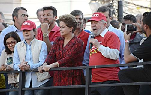 Os ex-presidentes Luiz Inácio Lula da Silva e Dilma Rousseff participaram de um ato em defesa do Polo Naval, na cidade de Rio Grande (RS)