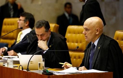 Ministro Alexandre de Moraes, do STF, pede vista em julgamento que trata da restrição ao foto privilegiado de autoridades, em Brasília