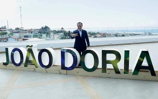 O prefeito João Doria (PSDB), em visita a Fortaleza, pouco antes de embarcar para Recife