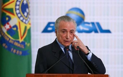 O presidente Michel Temer, em Brasília