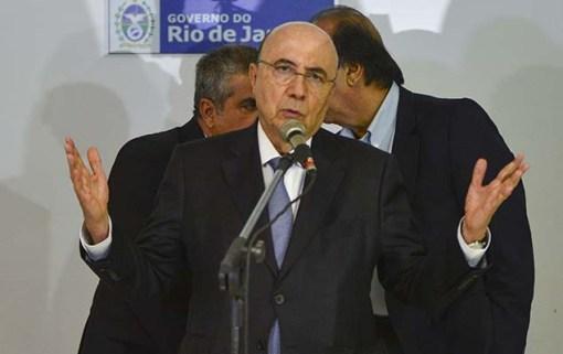 Ministro da Fazenda, Henrique Meirelles, apresenta plano de recuperação fiscal para Rio de Janeiro, no Palácio Guanabara, nesta quarta