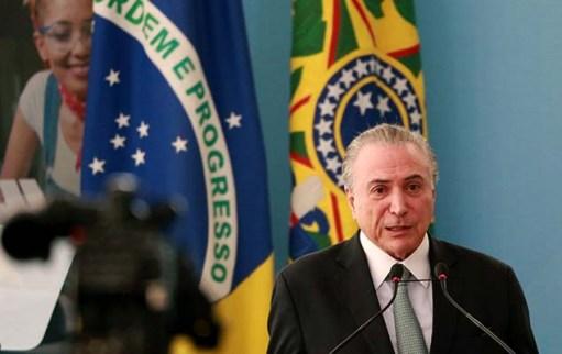 Presidente Michel Temer durante cerimônia alusiva ao Dia Nacional da Micro e Pequena Empresa, em Brasília, nesta quarta