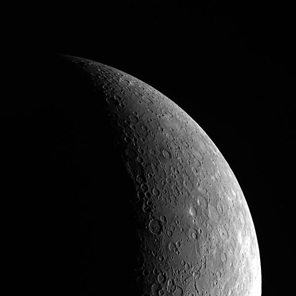 Mercúrio fotografado pela sonda Messenger (Foto: Messenger / NASA)