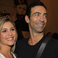 César Tralli está feliz com mudança de horário da mulher, Flávia Freire