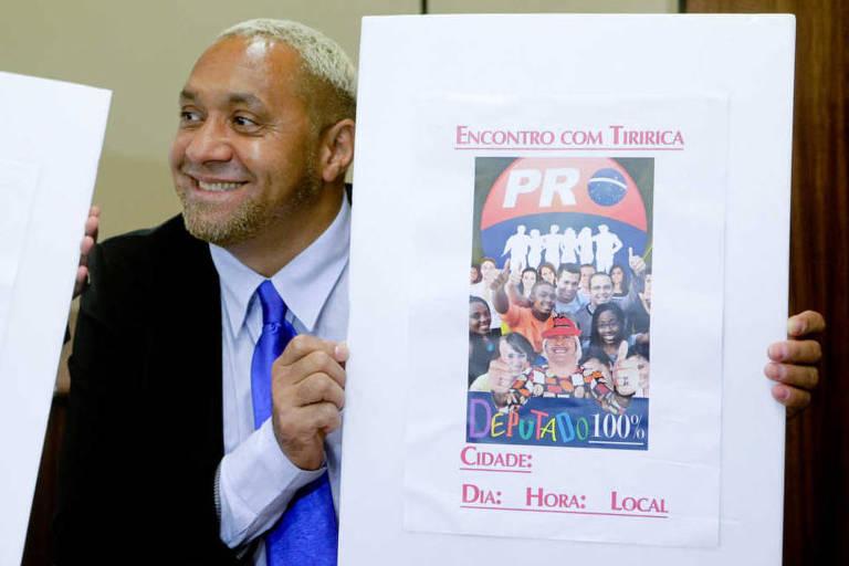 150895832959f0e079dc7ea 1508958329 3x2 md - 'Se não sair do pedestal, Bolsonaro será o pior presidente', diz Tiririca